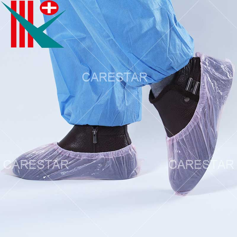 Disposable PE Shoe Cover, Made by Machine