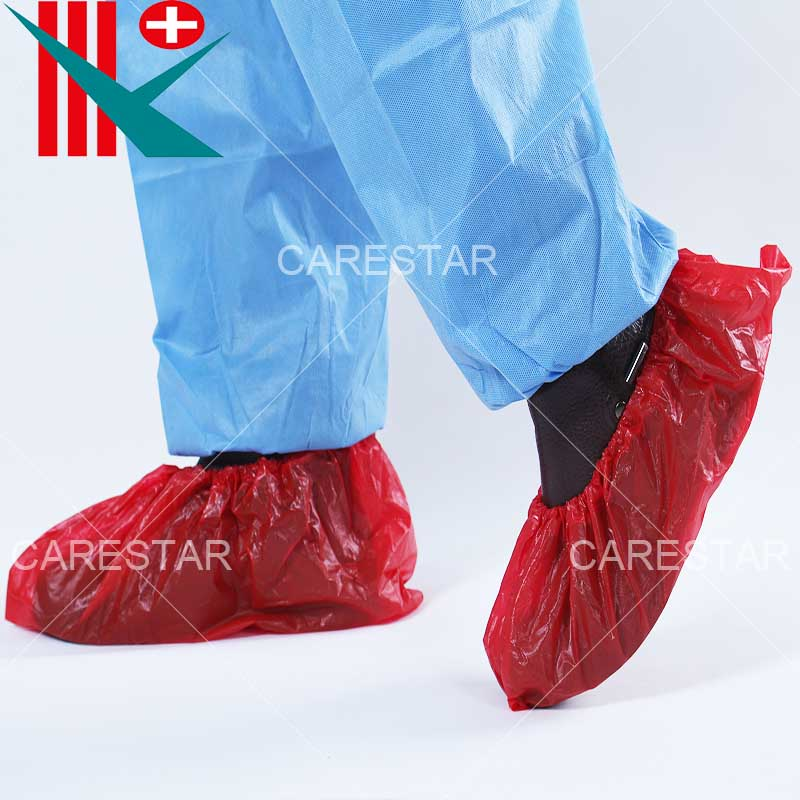 Disposable CPE Shoe Cover, Made by Hand