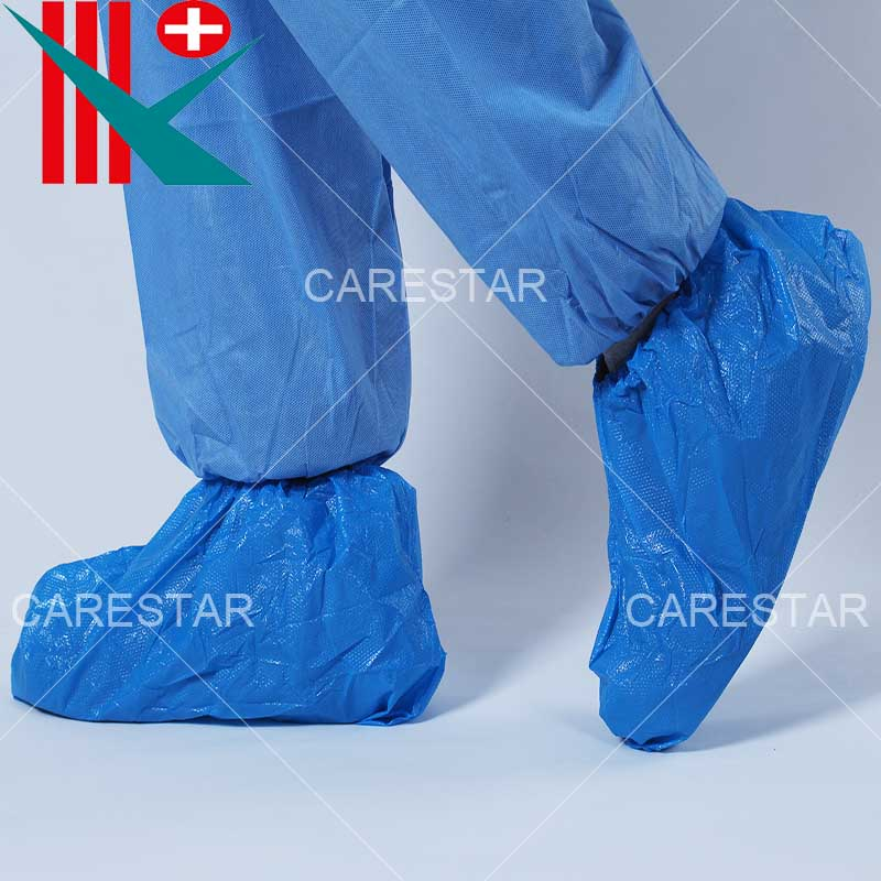 Disposable Non-Slip / Non-Skid CPE Shoe Cover, with Diamond Embossing