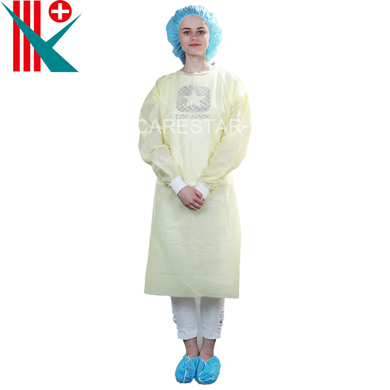 Disposable PP Isolation Gown with Knitted Cuff