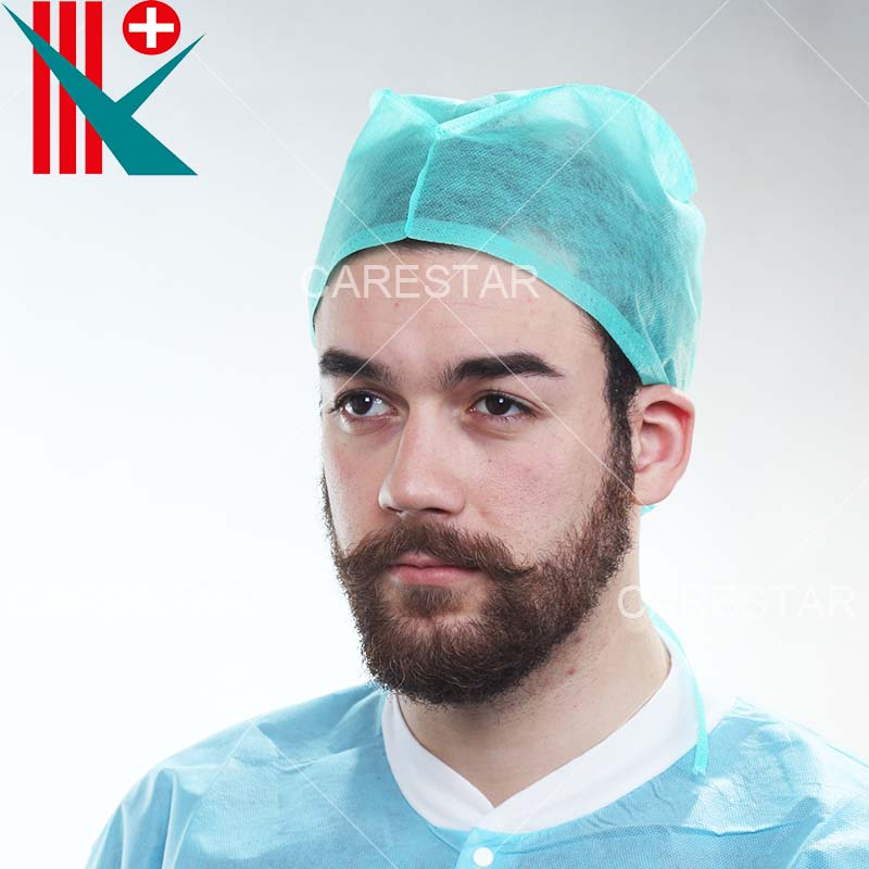 Disposable PP Doctor Cap Tie-on, Made by Machine